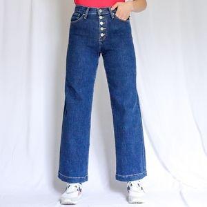 Banana Republic high-rise wide-leg button jeans